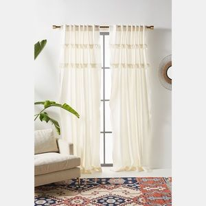 Anthropologie Tasseled Cassie Curtain 1 Panel Only